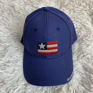 NWT Life Is Good American Flag Blue Hat Patriotic